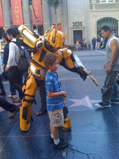 The Transformer on the Hollywood Walk of Fame