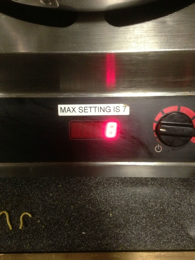 The max setting is WRONG.