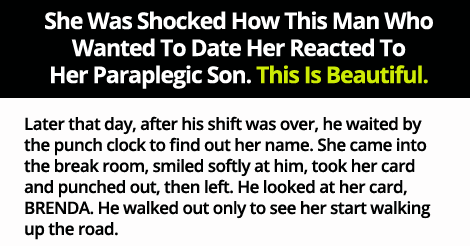 She Was Shocked How This Man Who Wanted To Date Her Reacted To Her Paraplegic Son. This Is Beautiful.