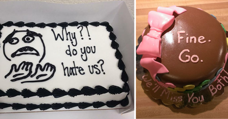 23 Hilariously Unexpected Farewell Cakes That Employees Got On Their Last Day At The Office
