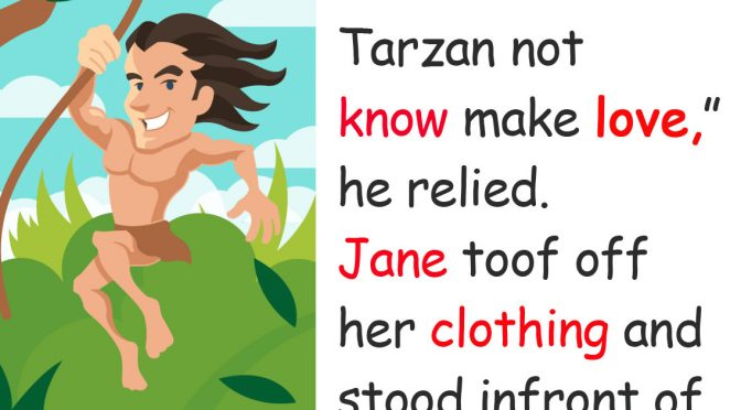 Tarzan and Jane undress together for the first time, but everything ends in total disaster